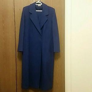 Beautiful vintage blue wool coat